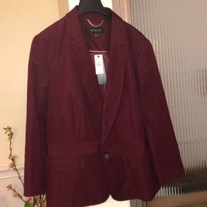 Talbots Burgundy color fully lined jacket